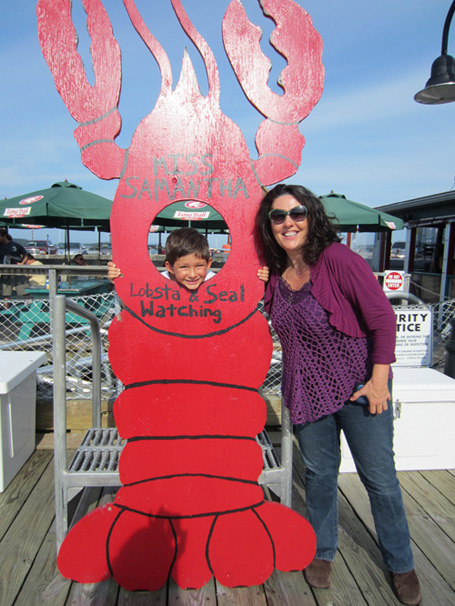 Jennifer Hadley with Giant Lobster