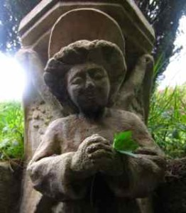 You can be an angel!  I love this angel from the garden at the Chalice Well in Glastonbury.