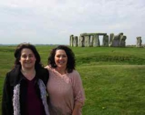 At Stonhenge with Nancy, one of the Masterful Living students in the UK.