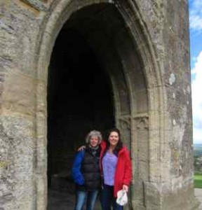 Debbie & Me at St. Michael's Tor in Glastonbury