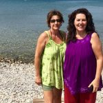 My friend Gina and me enjoying the beauty around Athens and a lovely day by the sea.