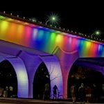 They lit this bridge in Minneapolis as a memorial for the victims in Orlando.