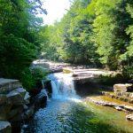 Beautiful waterfall in Vermont.