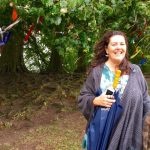 Standing by a Cloutie tree in Avesbury, England - what a great spot to meditate and refresh!