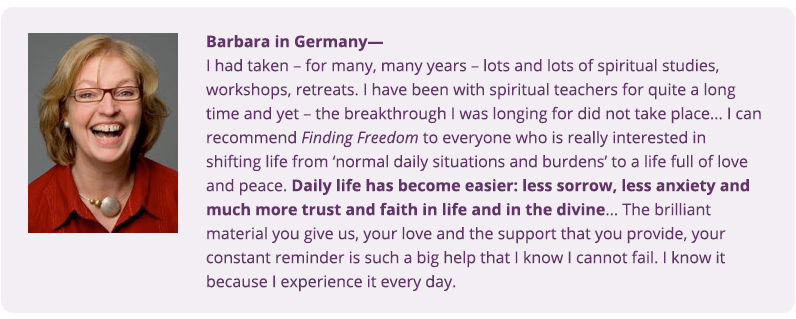 Testimonial from Barabara in Germany